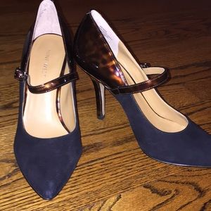 Nine West Heels - suede and tortoise shell
